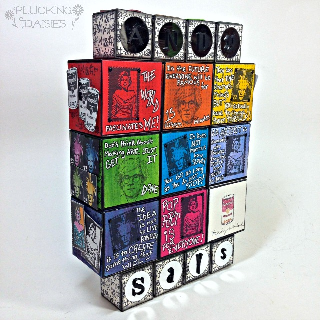 Andy Warhol Quote Blocks by Amy Bowerman | Eileenhull.com