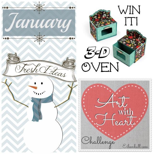 "Art with Heart Challenge January ""Fresh Ideas"" | Eileenhull.com"