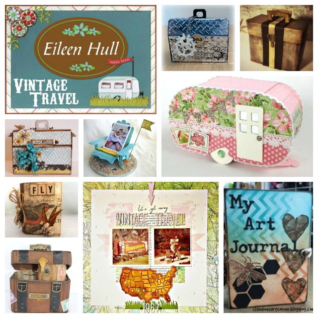 Eileen Hull Vintage Travel Sizzix Collection CHA Sneak Peek