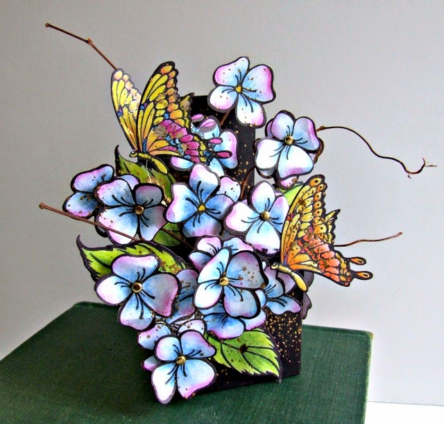 Stampendous Hydrangea ATB by Donna Budzynski