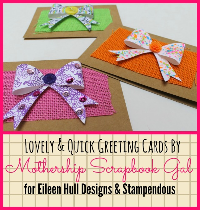 Lovely and Quick Scrap Greeting Cards with Stampendous by Rina Gonzales