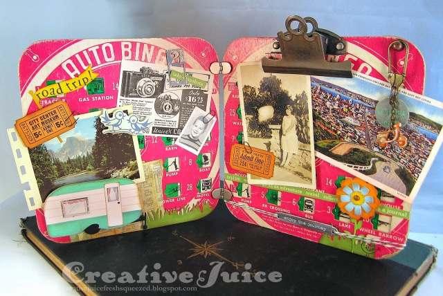 Bingo Board Layout with Sizzix Vintage Travel by Lisa Hoel