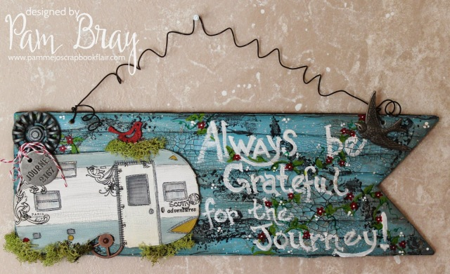 Vintage Camper Banner with DecoArt Media by Pam Bray