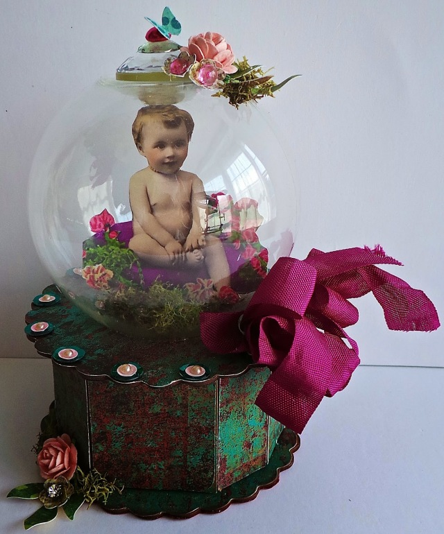 Spring Snow Globe Cookie Box by Tonya Trantham