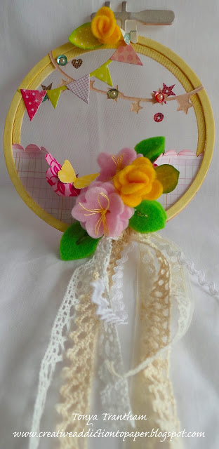 Sizzix Stitchlits Embroidery Hoop by Tonya Trantham
