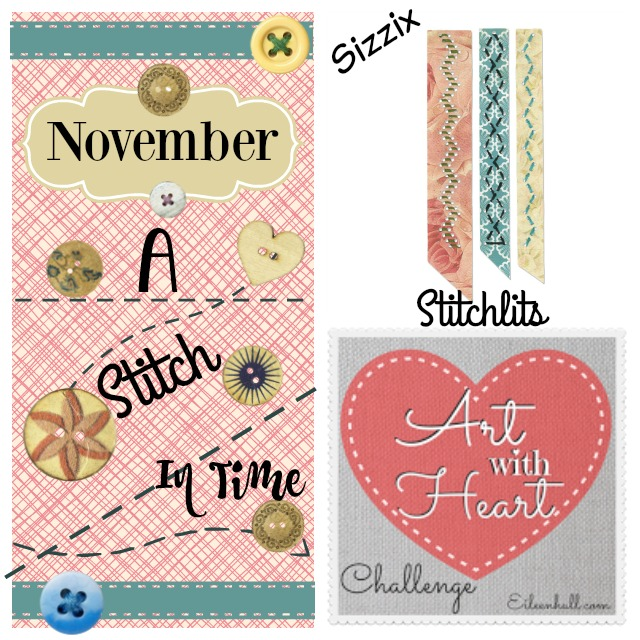 Art with Heart November Challenge Introducing Sizzix Stitchlits | Eileenhull.com
