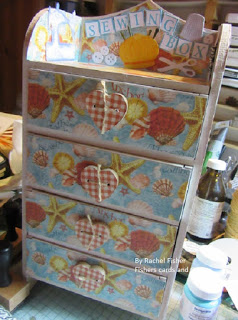 Sewing Supply Storage Box by Fisher's Cards and Crafts
