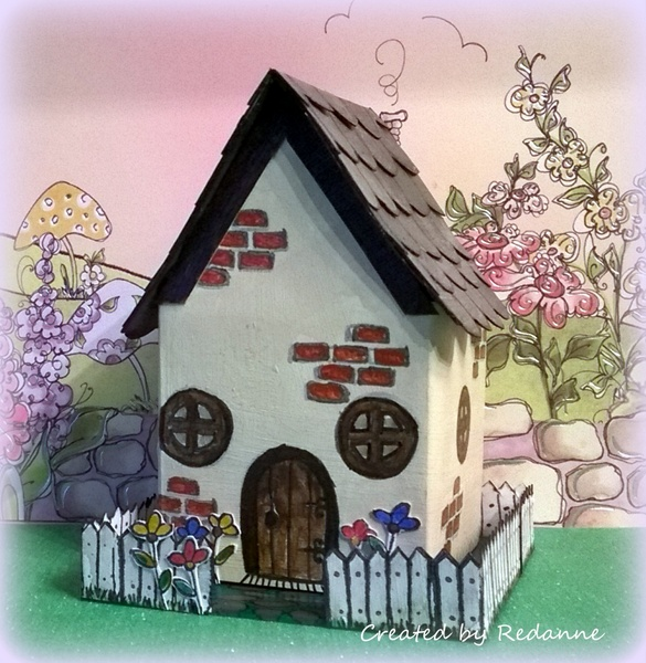 Artist Trading Block Cottage with Eileen Hull Sizzix Dies and Stampendous by Anne Redfern