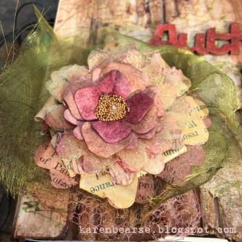 Karen Bearse Shares her Sizzix Grungy Art Journal