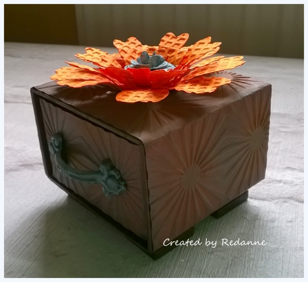 Sizzix Paper Flower Party Candy Drawer Tutorial with DecoArt Media by Anne Redfern