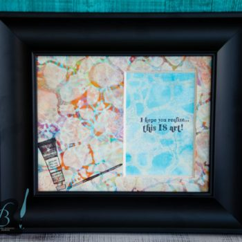 Gel Print Photo Mat by Cheryl Boglioli