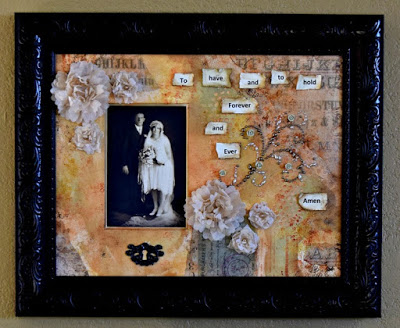 Crescent Project Ideas:  Vintage Wedding Collage with Eileen Hull Sizzix Flower Dies by Donna Budzynski