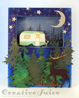 Crescent Project Ideas:  Camping Adventure Shadowbox Tutorial with Sizzix by Lisa Hoel