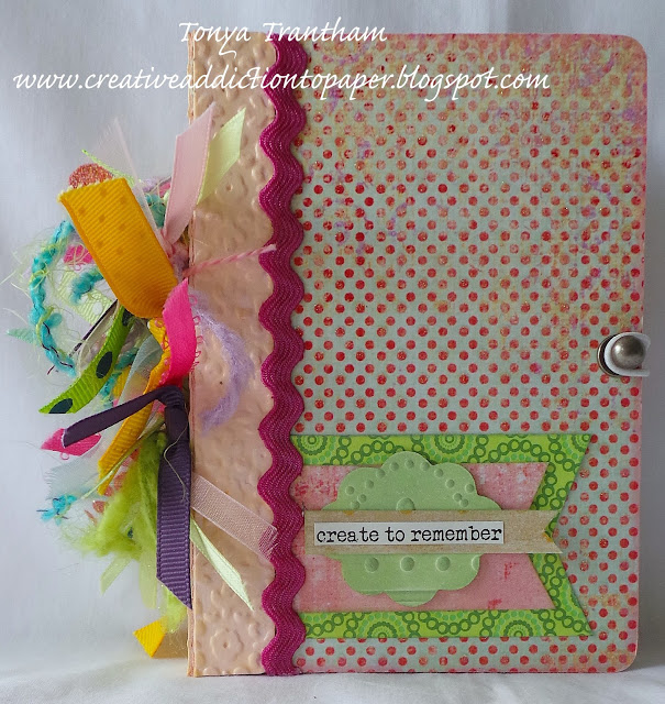Crescent Project Ideas: Eileen Hull Passport Book Journal with RENDR Paper by Tonya Trantham