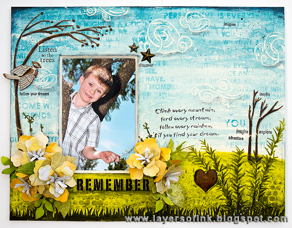 Crescent Product Ideas:  Mixed-Media Photo Frame Tutorial with Eileen Hull Paper