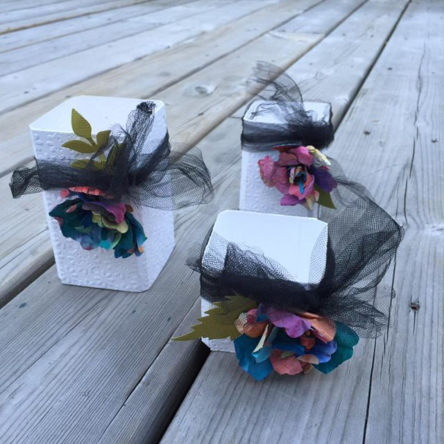 Sizzix Party Ideas: Textured Canister and Color Burst Paper Flower Tutorial by Diana Hetherington