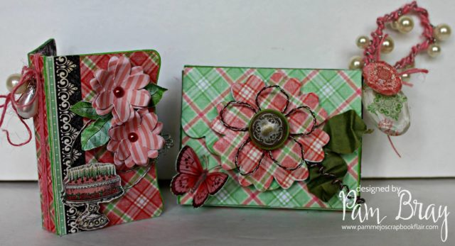 Floral Gift Card Holders with Eileen Hull's Sizzix Twist and Style Tool by Pam Bray
