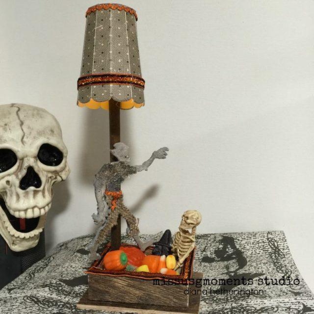 Halloween Sizzix Projects: Spooky Halloween Treat Lamp by Diana Hetherington