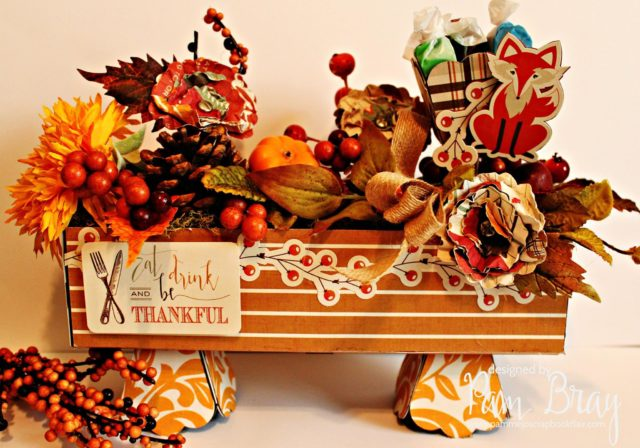 Holiday Sizzix Projects: Thanksgiving Candy Centerpiece by Pam Bray