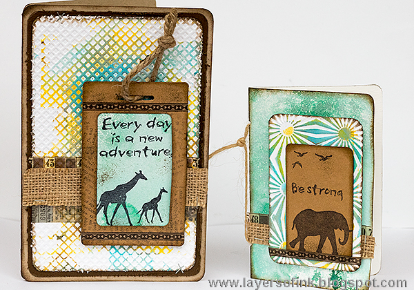 Creative Cards Using Sizzix Dies : Wildlife Cards with Eileen Hull Vintage Travel Dies by Anna-Karin Evaldsson