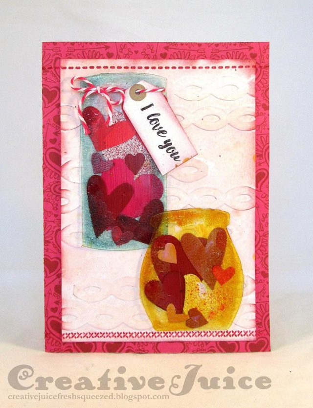 More Sizzix Card Making Ideas : Mixed-Media Valentine's Day Card Tutorial by Lisa Hoel