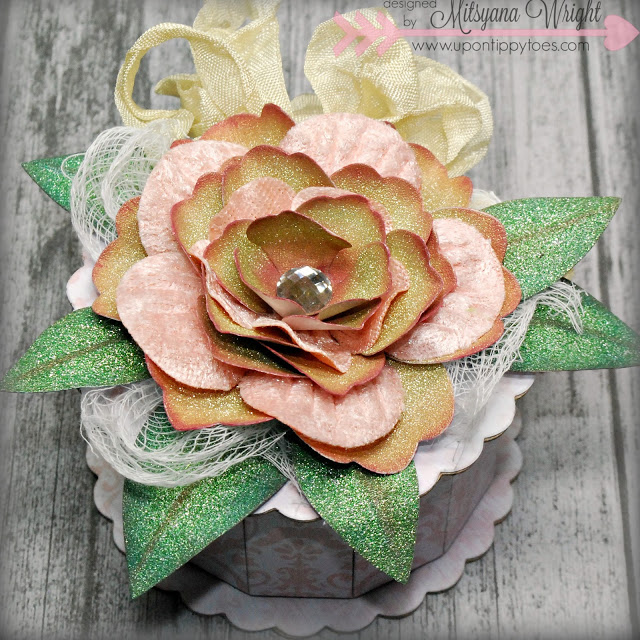 Creative ColorBox Blends Project Ideas: Paper Flower Keepsake Box by Mitsyana Wright