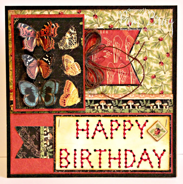 Heartfelt Sizzix Collection by Eileen Hull : Stitchy Words Card by Pam Bray
