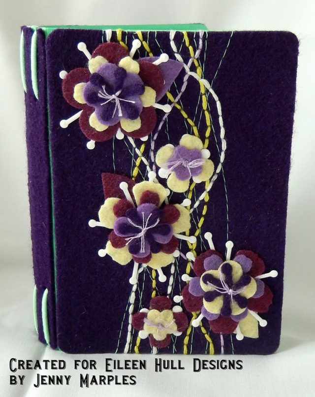Kunin and Sizzix Heartfelt Project Tutorials: Stitched Floral Passport Book Journal by Jenny Marples