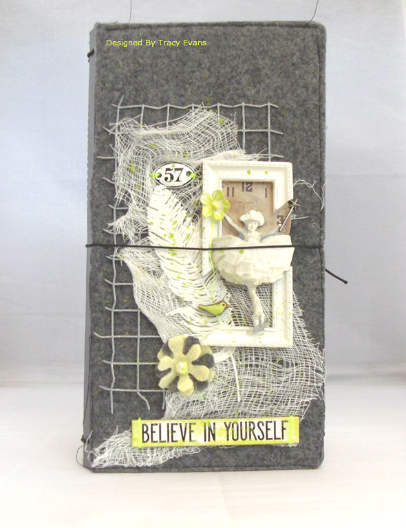Heartfelt Sizzix Collection with Kunin Felt: Felt Mixed-Media Journal Tutorial by Tracy Evans