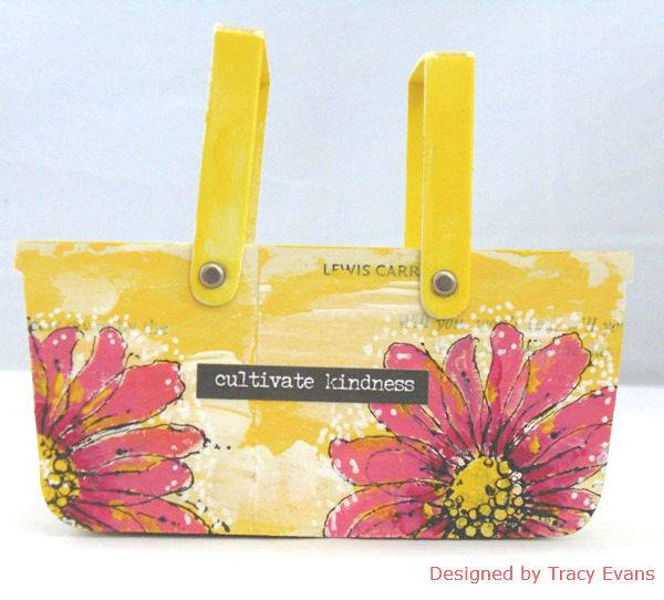 Eileen Hull Sizzix Projects with Stampotique: Cultivate Kindness Basket by Tracy Evans