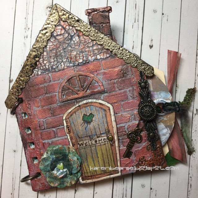 Stampotique Sizzix Project Tutorials: Mixed Media House Mini Album by Karen Bearse