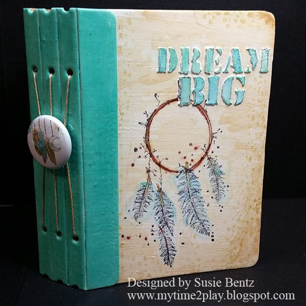 Stampotique Sizzix Project Tutorials: Dream Big Watercolor Mini Album by Susie Bentz