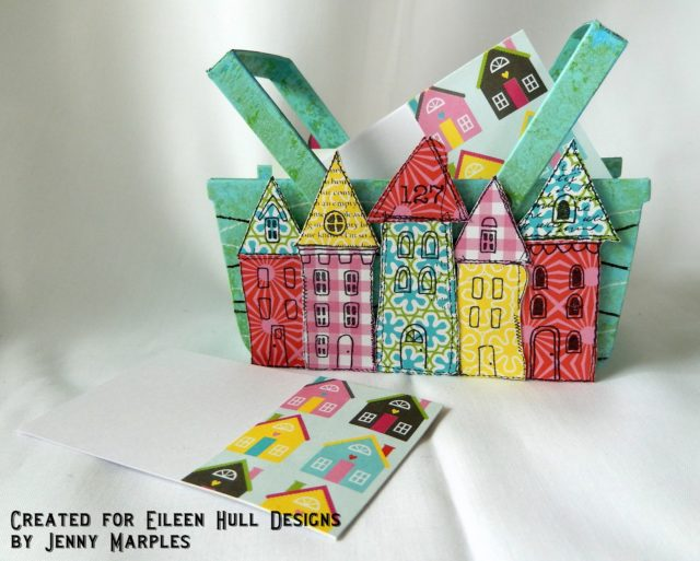 Heartfelt Sizzix Collection with Stampotique: Eileen Hull Basket Sizzix New Home Address Card Holder