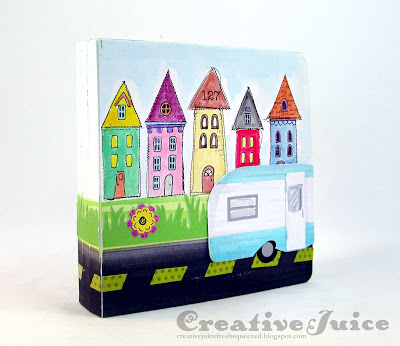 Stampotique Sizzix Project Tutorials: Road Trip Tunnel Album by Lisa Hoel