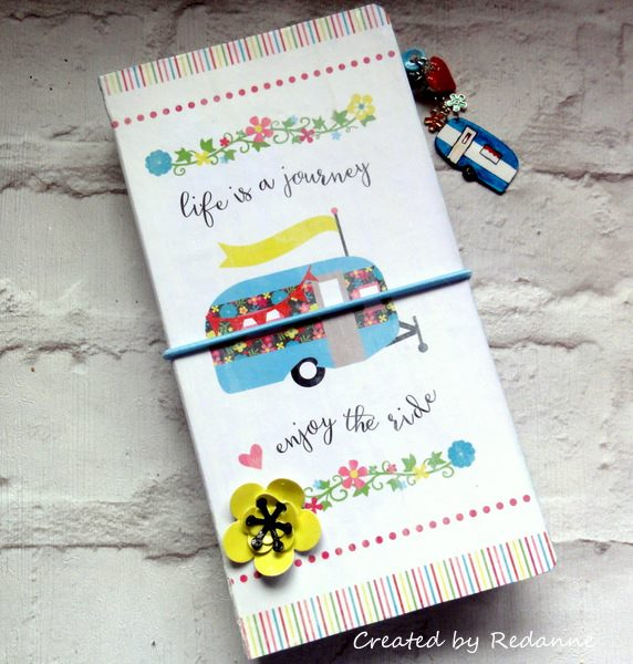 Heartfelt Sizzix Collection Journal Ideas: Travel Trailer Journal Tutorial by Anne Redfern