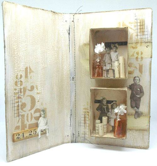 Unique ways to use Heartfelt Sizzix Dies: Mini Shadow Box Journal by Tracy Evans