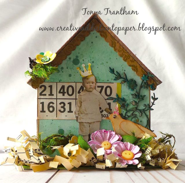 Unique Heartfelt Sizzix Tutorials: Whimsical 3D Paper House by Tonya Trantham