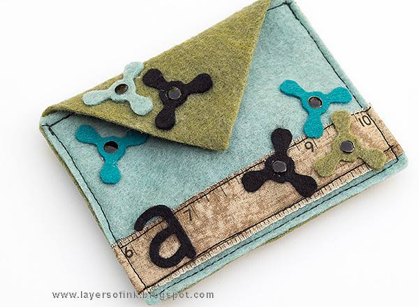 Unique Heartfelt Sizzix Tutorials: Felt Fidget Spinner Pouch by Anna-Karin Evaldsson