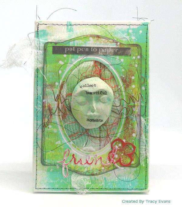 New Book Club Sizzix Collection Preview: Mixed Media Projects by Tracy Evans