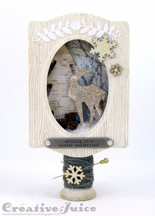 Book Club Sizzix Collection Preview: Winter Wonderland Trinket Box Vignette by Lisa Hoel