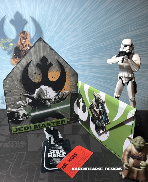 Unique Heartfelt Sizzix Tutorials: Star Wars House Pocket Folders and Holders by Karen Bearse