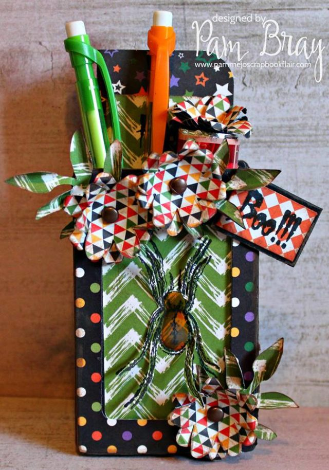 Fall Holiday Eileen Hull Sizzix Project Ideas: Spooky Spider Luggage Tag Treat Box Tutorial by Pam Bray
