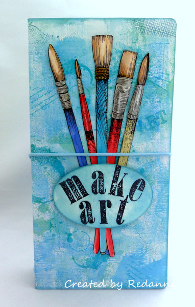 Book Club Sizzix Collection Project Ideas: Stamp and Storage Die Watercolor To Go Set by Anne Redfern