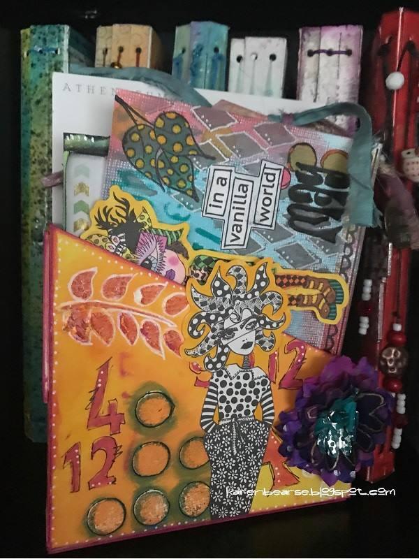 Sizzix Book Club Project Tutorials: Art Card Storage Box by Karen Bearse