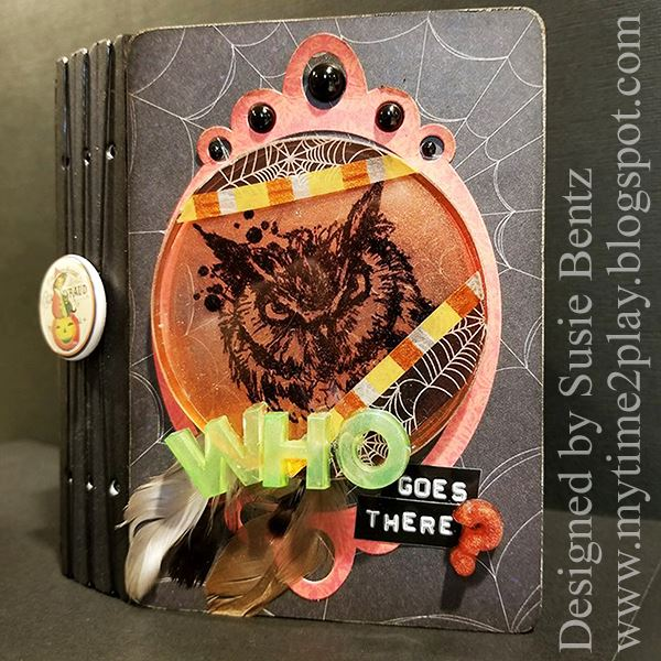 Fall Holiday Sizzix Project Tutorials: Halloween Memories Passport Book Album by Susie Bentz