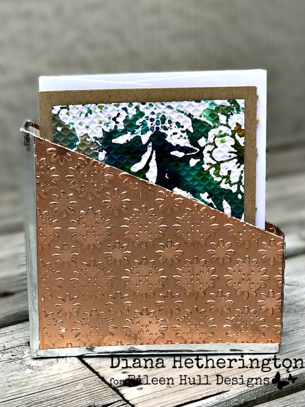 Sizzix Book Club Project Tutorials: Embossed Card Holder with Mixed-Media Cards by Diana Hetherington