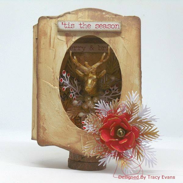 Eileen Hull Holiday Gifts and Decor Projects: Tis the Season Trinket Box by Tracy Evans