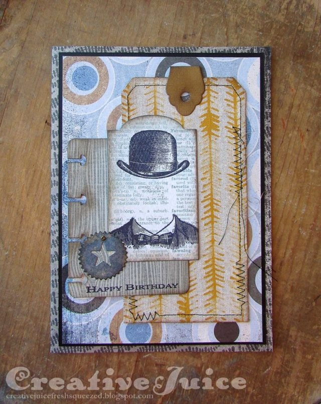 Book Club Love Sizzix Projects: Masculine Birthday Card Tutorial by Lisa Hoel
