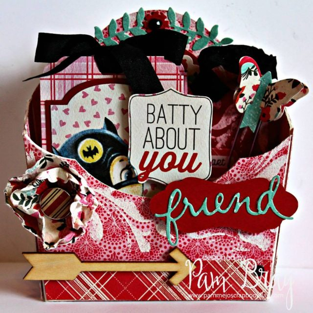 Eileen Hull Die Favorites Projects and Tutorials: Valentine's Day Flower Pocket Treat Box by Pam Bray