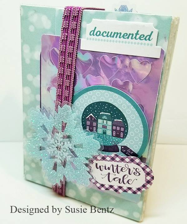 Book Club Sizzix Collection Chapter Two: Winter Fun Mini Album Wrap Journal by Susie Bentz